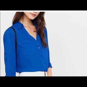 Express Portofino Blouse- Blue